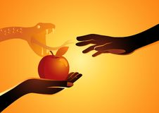 Eve Offering The Apple To Adam Royalty Free Stock Photography