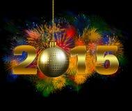 Eve Party de 2015 nouvelles années illustration stock