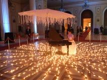 Eve Party del Año Nuevo en el palacio del parlamento Fotografía de archivo libre de regalías