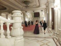 Eve Party del Año Nuevo en el palacio del parlamento Foto de archivo