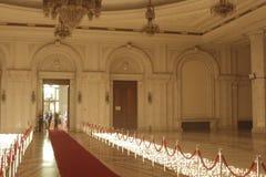 Eve Party del Año Nuevo en el palacio del parlamento Imagen de archivo libre de regalías