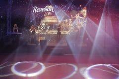 Eve Party del Año Nuevo en el palacio del parlamento Imágenes de archivo libres de regalías