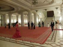Eve Party del nuovo anno al palazzo del Parlamento Fotografia Stock Libera da Diritti