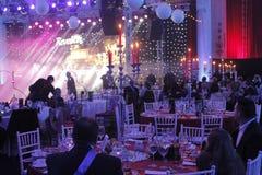 Eve Party del nuovo anno al palazzo del Parlamento Immagine Stock