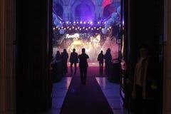 Eve Party del nuovo anno al palazzo del Parlamento Immagini Stock