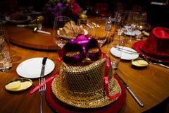 Eve Party Table del Año Nuevo Foto de archivo libre de regalías