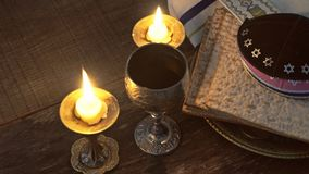 Pesach eve passover symbols of great Jewish holiday. traditional matzoh stock footage