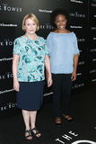 Eve Plumb, Amber Ruffin. NEW YORK-JUL 31: Eve Plumb L and Amber Ruffin attend `The Dark Tower` special screening at the Museum of Modern Art on July 31, 2017 in Royalty Free Stock Photography