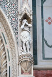 Eve, Portal von Florence Cathedral Stockfoto