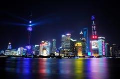 Eve Shanghai de nouvelle année Images stock