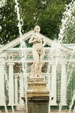 Eve Temptation. Peterhof Saint Petersburg Russia. Pavilion and Fountain Eve Royalty Free Stock Photo