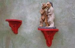 Eve und Adam mit der verbotenen Frucht Lizenzfreies Stockbild