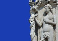 Eve und die Schlange, ursprüngliche Sünde Lizenzfreies Stockfoto