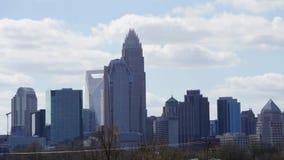 Charlotte north carolina city skyline and street scenes  stock footage