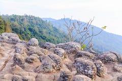 Eveing på Lan Hin Pum (det naturliga fenomenet) Arkivbild