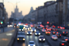 Eveining blurry city road Royalty Free Stock Images