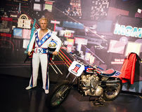 Evel Knievel. Wax statue of Evel Knievel  American daredevil, painter, entertainer, and international icon, image taken at the Madame Tussauds museum at Las Stock Photo