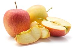 Evelina-Apfel lokalisiert Lizenzfreies Stockfoto