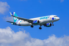 Evelop Airbus A320 Royalty Free Stock Photo