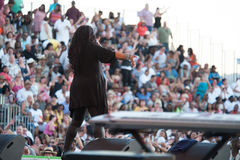 Evelyn Champagne King. LINCOLN, CA – June 8: Evelyn Champagne King performs at Thunder Valley Casino Resort in Lincoln, California on June 8, 2013 Royalty Free Stock Photo