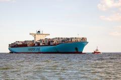 Evelyn Maersk zbiornika statek Zdjęcia Stock