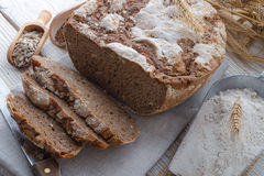 Even baked bread Stock Photography