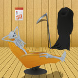 Even the death must have day off - illustration Stock Photos