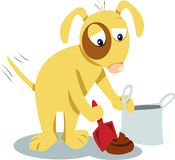 Even dogs know you have to clean it up! Stock Images