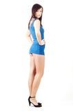 Even more flirtatious girl - whole profile Stock Photos