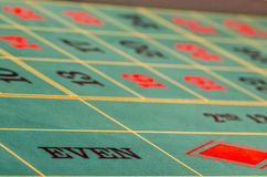 Even roulette table Stock Photos