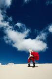Even Santa Claus has to stop and take in the view Royalty Free Stock Photo