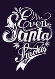 Even Santa smokes some Royalty Free Stock Image