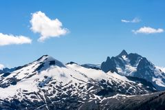 Snow covering the North Cascades Stock Photography