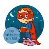 Even superheroes need sleep Stock Photography