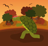 Even a turtle do fitness. A turtle do fitness in a park zone Stock Illustration