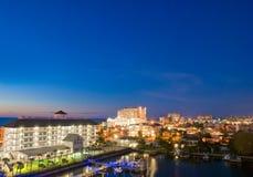 Evenfall del clearwater en Tampa la Florida foto de archivo libre de regalías