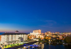 Evenfall von clearwater in Tampa Florida lizenzfreies stockfoto