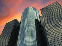 Evenig shot of tall buildings Royalty Free Stock Photography