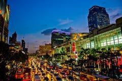 Evening światła Bangkok Zdjęcia Stock