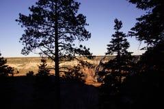 Evening światło na ostrych graniach huczenie Skacze jar fotografia stock