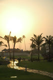 Evening. India, south Goa, evening in hotel Stock Images