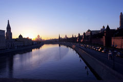 Evening above city. Evening above Moscow Royalty Free Stock Photography