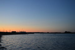 Evening af the Harbour. Evening picture in an small harbour in Denmark Royalty Free Stock Photo