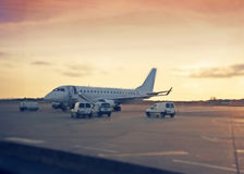 Evening Airfield Royalty Free Stock Photography