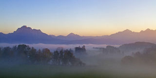 Evening in Allgaeu Royalty Free Stock Images