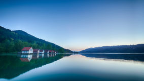 Evening by an Alpine Lake in Summer Stock Photos