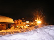 Evening in the Alps. Winter evening in the Alps Royalty Free Stock Photo
