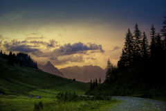 Evening in the Alps Stock Image