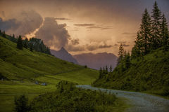 Evening in the Alps Royalty Free Stock Photography