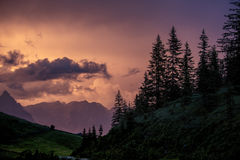 Evening in the Alps Stock Images
